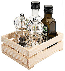Cruet Set in Wooden Box