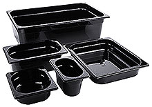 Black Polycarbonate GN Containers
