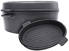 Oval Deep Roasting Pan with Lid