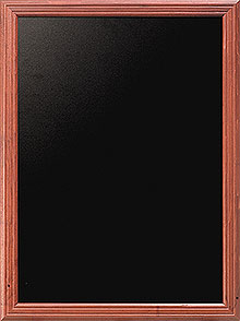 Menu Board, mahogany