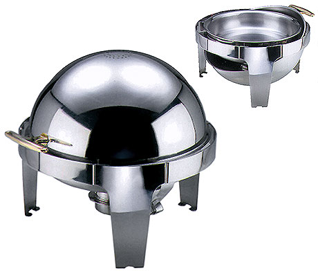Roll Top Chafing Dish, round